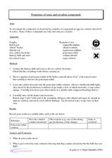 Printables Properties Of Ionic Compounds Worksheet properties of ionic and covalent compounds 9th 12th grade worksheet