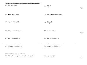 logarithm properties worksheet - Termolak