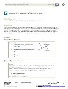 Properties of Parallelograms Lesson Plan