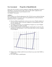 Properties of Quadrilaterals Worksheet