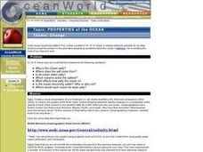 Properties of the Ocean: Change Lesson Plan