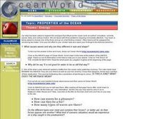 Properties of the Ocean Lesson Plan