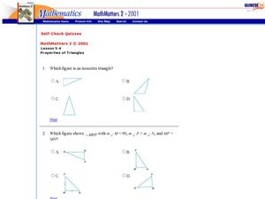 Properties of Triangles Worksheet