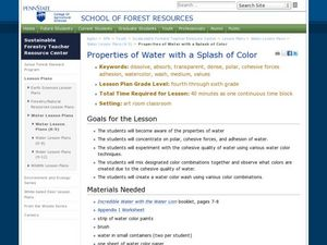 Properties of Water with a Splash of Color Lesson Plan