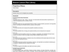 Properties of Waves Lesson Plan