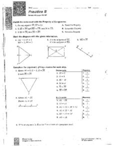 Property of Congruence Worksheet
