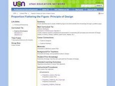 Proportion Flattering the Figure- Principle of Design Lesson Plan