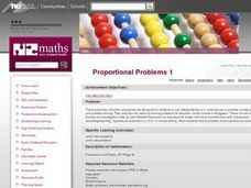 Proportional Problems 1 Lesson Plan