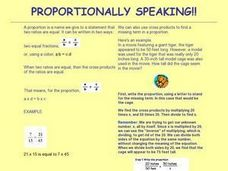 Proportionally Speaking! Lesson Plan