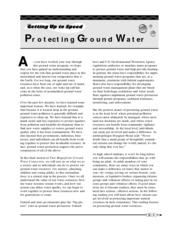 Protecting Ground Water Worksheet