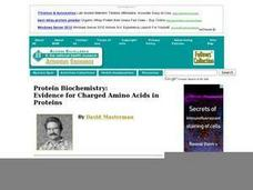 Protein Biochemistry: Evidence for Charged Amino Acids in Proteins Lesson Plan