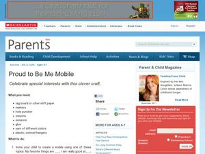 Proud to Be Me Mobile Lesson Plan