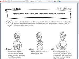 proverbs 17 17 2nd 3rd grade worksheet lesson planet. Black Bedroom Furniture Sets. Home Design Ideas