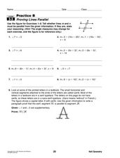 proving lines parallel 9th 12th grade worksheet lesson planet. Black Bedroom Furniture Sets. Home Design Ideas