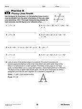 proving lines parallel 9th 12th grade worksheet lesson planet. Black Bedroom Furniture Sets. Home Design Ideas