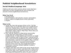 Publish Neighborhood Newsletters Lesson Plan