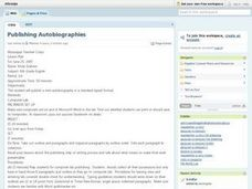 Publishing Autobiographies Lesson Plan