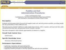 Puddles and Soil Lesson Plan