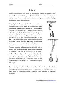 Pulleys Worksheet