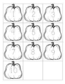 Pumpkin Numerical Order Worksheet