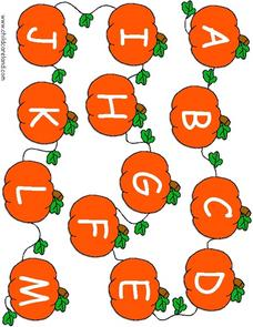 Pumpkin Patch Alphabet Match Worksheet