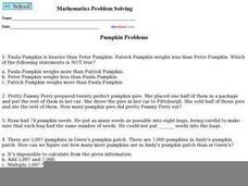 Pumpkin Problems Worksheet
