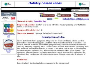 Pumpkin Tag Lesson Plan