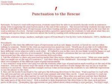 Punctuation to the Rescue Lesson Plan