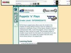Puppets 'n' Plays Lesson Plan