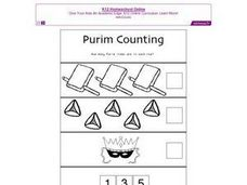 Purim Counting Worksheet