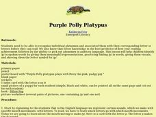 Purple Polly Platypus Lesson Plan