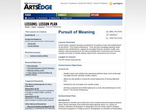Pursuit of Meaning Lesson Plan