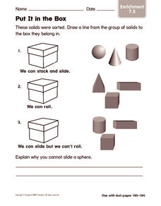 Put It in the Box Worksheet