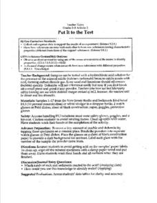 Put It to the Test Lesson Plan