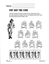 Put Out the Fire Worksheet