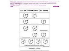 Put the Turkeys Where They Belong Worksheet
