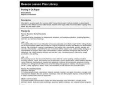Putting it On Paper Lesson Plan