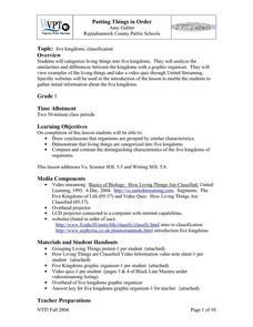 Putting Things in Order Lesson Plan