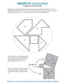 pythagorean theorem puzzle 8th grade worksheet lesson planet. Black Bedroom Furniture Sets. Home Design Ideas