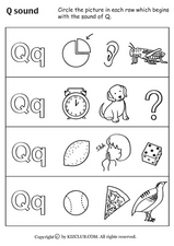 """Q"" Sound Worksheet"