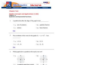 Quadratic Functions Worksheet