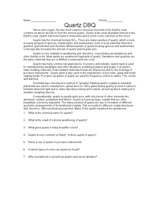 Quartz DBQ Worksheet