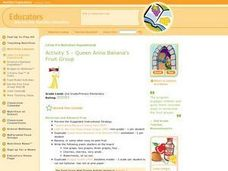 Queen Anna Banana's Fruit Group Lesson Plan