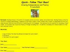 Quick - Follow That Bear! Lesson Plan