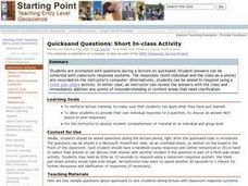 Quicksand Questions: Short In-class Activity Lesson Plan