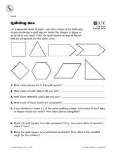Quilting Bee Worksheet