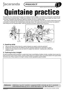 Quintaine Practice Worksheet