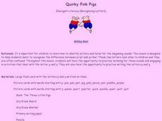 Quirky Pink Pigs Lesson Plan
