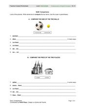 Quiz: Comparisons Worksheet