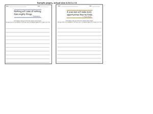Quotation Writing Prompts 2 Worksheet